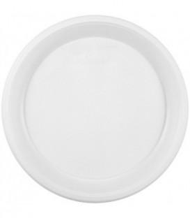 Тарелка одноразовая пластиковая десертная, диаметр 16,5 см, белая