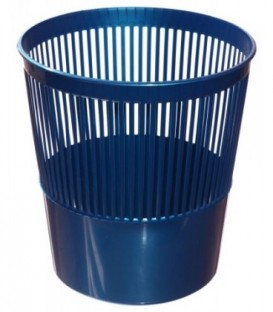 Корзина для бумаг сетчатая 10 л, синяя