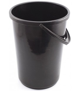 Ведро пластиковое 12 л, черное