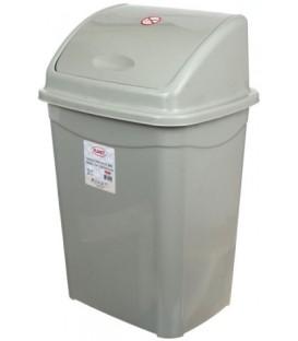 Корзина для мусора «Аквайт» 26 л, высота 54 см, ширина 29 см, серая
