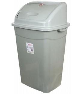 Корзина для мусора «Аквайт» 50 л, высота 70 см, ширина 35 см, серая