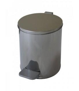 Урна для мусора с педалью 7 л, высота 290 мм, хром