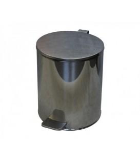 Урна для мусора с педалью 15 л, высота 320 мм, хром
