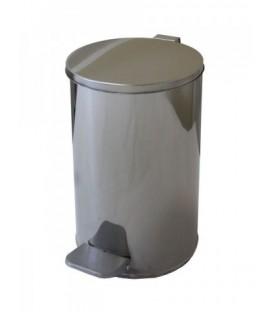 Урна для мусора с педалью 10 л, высота 310 мм, хром