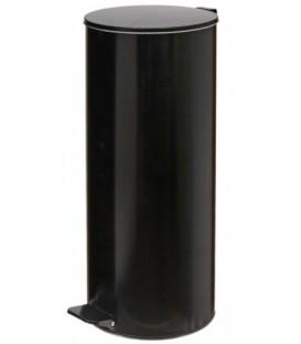 Урна для мусора с педалью 30 л, высота 600 мм, черная