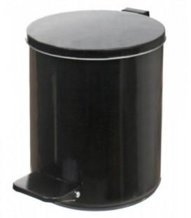 Урна для мусора с педалью 7 л, высота 290 мм, черная