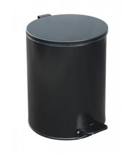 Урна для мусора с педалью 15 л, высота 320 мм, черная
