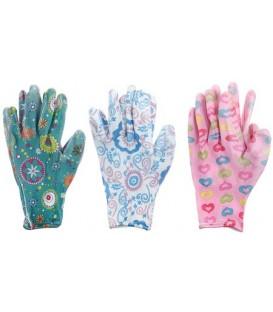 Перчатки нейлоновые с латексным покрытием цветные, ассорти