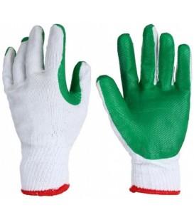 Перчатки хлопчатобумажные с латексным покрытием ассорти (цена за 1 пару)