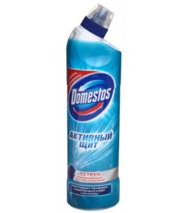 Средство чистящее для унитаза Domestos 750 мл, «Активный щит. Свежесть океан»