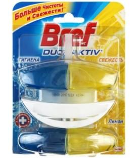 Блок для унитаза Bref «Дуо-Актив» 2*50 мл, «Лимон», в пластиковом подвесе