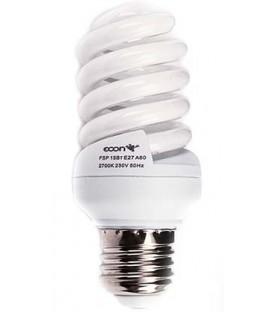 Лампа энергосберегающая Econ 15Вт (75Вт), 230-240V, 2700К, (теплый свет), цоколь E27