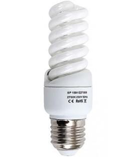Лампа энергосберегающая Econ 15 Вт, 230-240 V, 2700 К, цоколь E27, теплый свет