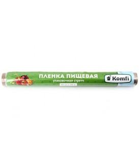 Пленка-стрейч пищевая Komfi 300 мм*20 м, 6 мкм, ролик с бумажной этикеткой