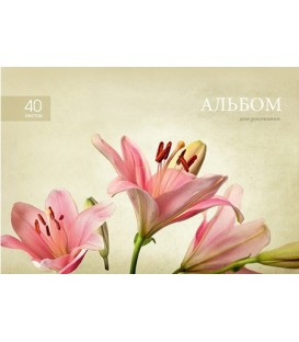 Альбом для рисования А4 «ПЗБФ» 40 л., «Поэзия цветов»