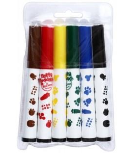 Фломастеры утолщенные Tatty Teddy and my Blue Nose friends 6 цветов, толщина линии 1-2 мм, вентилируемый колпачок