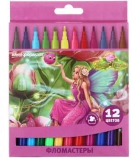 Фломастеры «Цветочные феи» 12 цветов, толщина линии 1-2 мм, вентилируемый колпачок