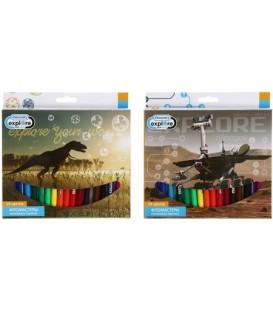Фломастеры Discovery 18 цветов, толщина линии 1-2 мм, вентилируемый колпачок, ассорти (цена за 1 набор)