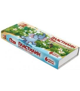 Пластилин «Мини» 6 цветов, 81 г