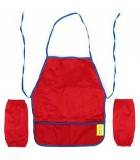 Фартук для труда с нарукавниками «Каляка-Маляка» 46*38 см, красный