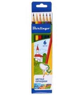 Карандаши цветные «Замки» 6 цветов, длина 175 мм