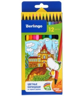 Карандаши цветные «Волшебный дворец» 12 цветов, длина 175 мм