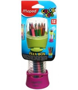 Карандаши цветные Color Peps Flex Box 12 цветов, длина 175 мм
