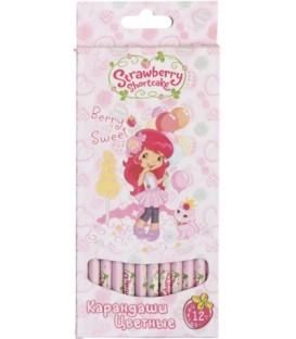 Карандаши цветные Strawberry Shortcake 12 цветов, длина 175 мм