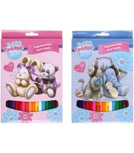 Карандаши цветные Tatty Teddy - my Blue Nose friends 18 цветов, длина 175 мм, ассорти