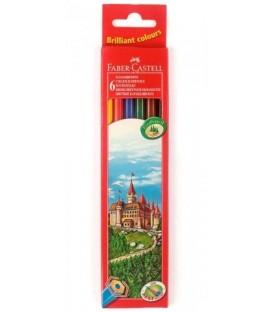 Карандаши цветные «Замок» Faber-Castell 6 цветов, длина 175 мм
