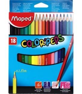 Карандаши цветные Color peps 18 цветов, длина 175 мм