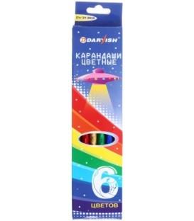 Карандаши цветные Darvish 6 цветов, длина 175 мм