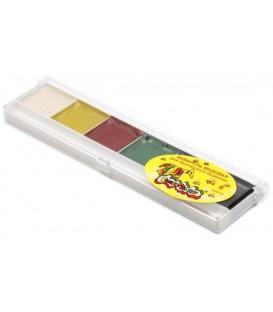 Акварель медовая «Каляка-Маляка» 6 цветов, в пластиковой коробке, без кисти