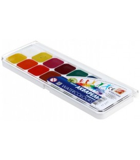 Акварель медовая «Классика» 16 цветов, в пластиковой коробке, без кисти