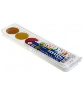 Акварель медовая «Классика» 6 цветов, в пластиковой коробке, без кисти