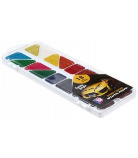 Акварель медовая Racing Leaque 18 цветов, в пластиковой коробке, без кисти