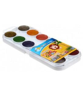 Акварель медовая Africa Kids 24 цвета, в пластиковой коробке, без кисти