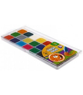 Акварель медовая Fresh Ideas 24 цвета, в пластиковой коробке, без кисти