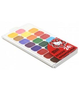 Акварель Hello Kity 24 цвета, в пластиковой коробке, без кисти