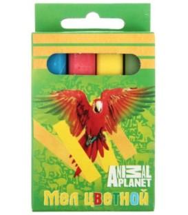 Мелки цветные Animal Planet 4 шт.