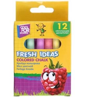 Мел цветной Fresh Ideas 12 шт., 6 цветов