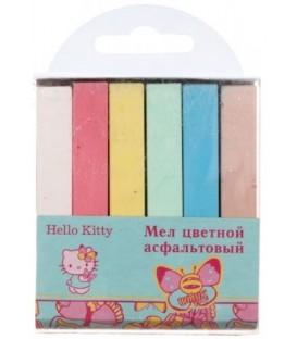 Мел цветной асфальтовый Helllo Kitty 6 шт., 6 цветов