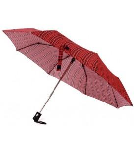 Зонт женский от дождя (автомат) 33059 «Кружочки», красный