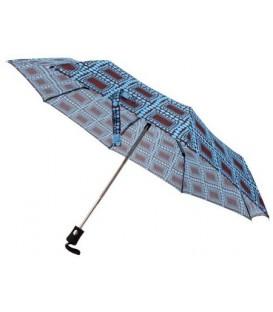Зонт женский от дождя (автомат) 33059 «Кружочки», голубой