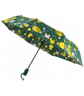 Зонт женский от дождя (автомат) «Кружочки» (зеленые)