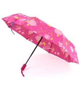 Зонт женский от дождя (автомат) «Кружочки» (розовые)