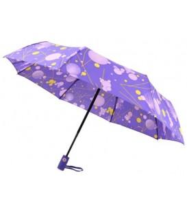 Зонт женский от дождя (автомат) «Кружочки» (фиолетовые)