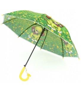 Зонт детский от дождя (трость) «Щенок» (со свистком)