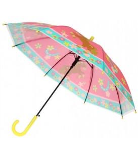 Зонт детский от дождя (трость) «Цветы»