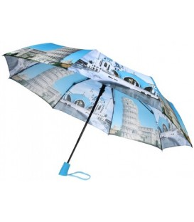 Зонт женский от дождя (полуавтомат) голубой